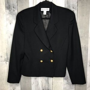 Christian Dior Double Breasted Blazer Gold Buttons